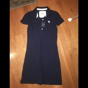 NWT Abercrombie Kids girls dress sz S navy